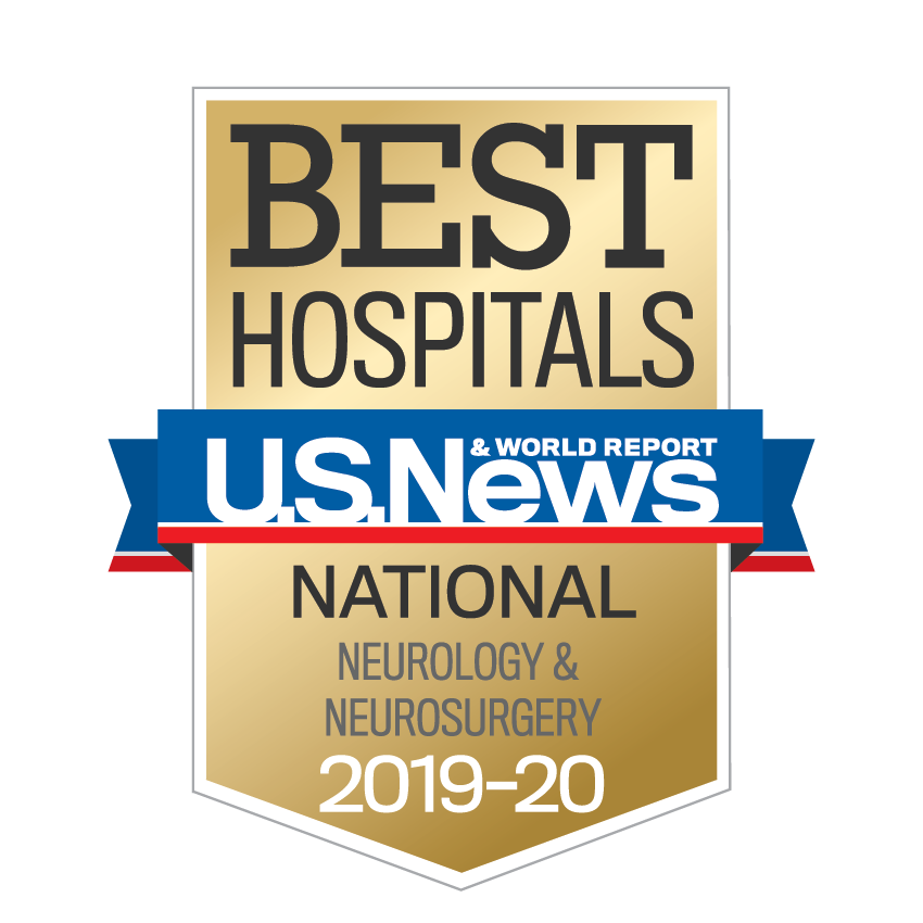 U.S. News & World Report High Performing Hospital Award for Neurology and Neurosurgery