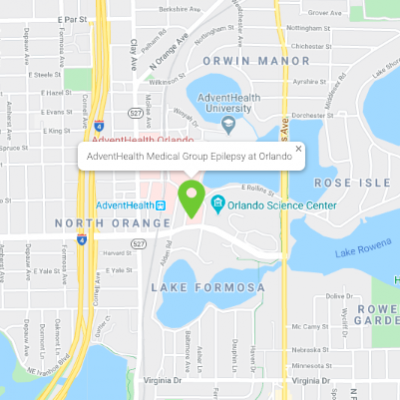 Location of AdventHealth Medical Group Epilepsy at Orlando.